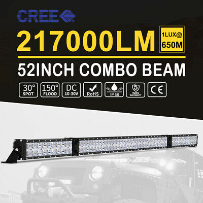 """52inch Curved Cree LED Light Bar Spot Flood Combo Beam Work Driving 4WD 50"""" Lamp"""