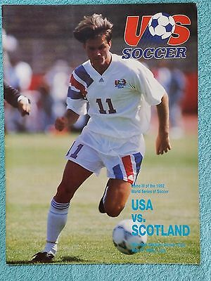 1992 - U.S.A v SCOTLAND PROGRAMME - FRIENDLY - V.G CONDITION