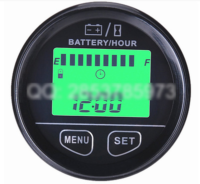 Battery Monitor Hour Meter Voltage 12V 24V 36V 48V RSOC Surplus Capacity Percent