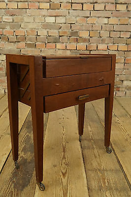 Mid Century Design Sewing Table 60s Basket Box Vintage Side 60ER