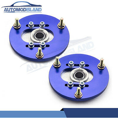 Front Coilover Top Mount Camber Plate For BMW E36 318 328 323 325 M3 90-00 blue