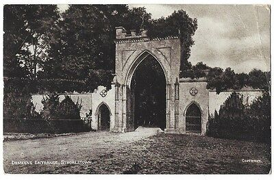 STROKESTOWN Demesne Entrance, Co Roscommon, Old Postcard Postally Used 1950