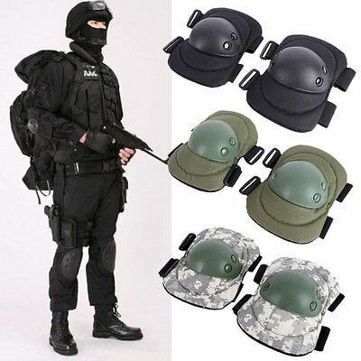 Tactical Military Paintball Skate Elbow Knee Pad Airsoft Combat Protective AU