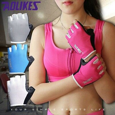 AU Men Women Gel Gloves Fitness Gym Wear Weight Lifting Hunting Riding Cycling