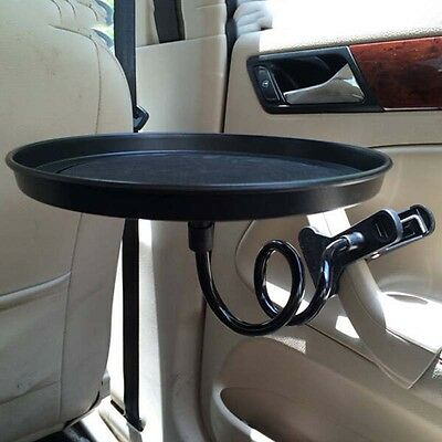 Portable Holder Tray Table Desk Cup Stand Clip for Car Mobile Auto W/ Drawer Bla