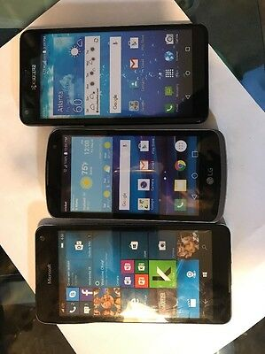 Lot of 3 Cell Phone  Dummies Display Phones Look Real Parts Name Brands