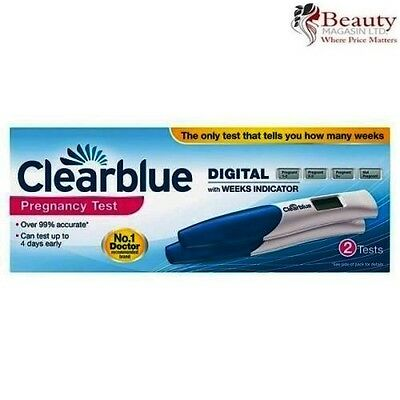 2 x Clearblue Digital Pregnancy Test Sticks with Conception Indicator