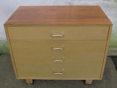 HERMAN MILLER GEORGE NELSON 4 DRAWER DRESSER / CABINET mid century chest