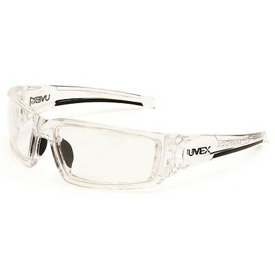 UVEX HYPERSHOCK SAFETY GLASSES CLEAR ICE FRAME CLEAR Uvextreme ANTI-FOG LENS