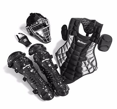Youth Catcher's Gear Pack in BLACK (Ages 9-12)