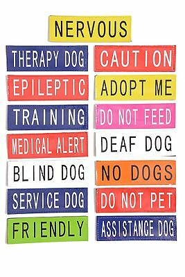 Patch Patches For Tactical Dog Harness Warning Labels Canine Harness K9 Harness