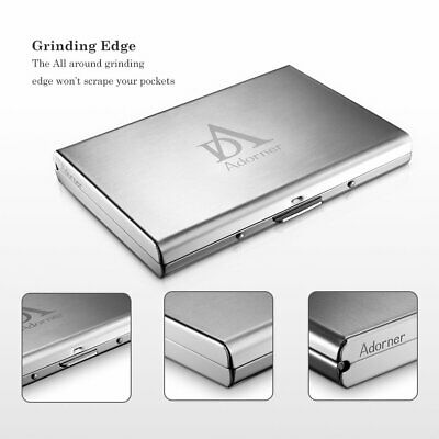 Aluminum Metal Credit Card Holder RFID Protector Wallet with 6 Card Slots Clip