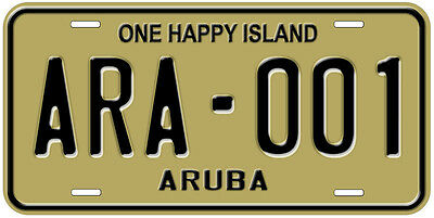 Aruba One Happy Island Any Name Personalized Novelty Car License Plate