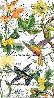 TWO (2) Hummingbirds, Paper Hostess Napkins for Decoupage and Paper Crafts