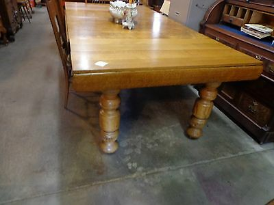 antique oak dining table 5 legs 93 long large legs.very good shape