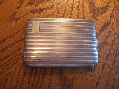 Vintage 925 Sterling Silver And 18KT Gold Cigarette Case PRICED TO SELL NOW!