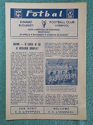 1984 - EUROPEAN CUP SEMI FINAL PROGRAMME - DINAMO BUCHAREST v LIVERPOOL
