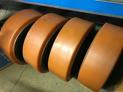 Trommel screener support and retainer wheels new from BRAUER trunnion :)