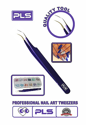 Pinces à épiler Nail Art Tweezer Curved Stainless Steel Pointed For Rhinestones