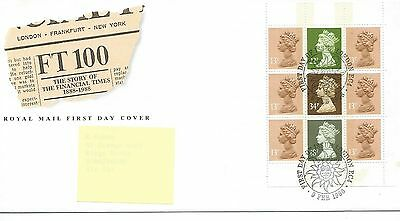 GB - FIRST DAY COVER - FDC - PRESTIGE PANE -1988- FINANCIAL TIMES - Pmk London