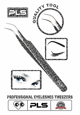 Pincée Eyelashes Curved Pointed Tweezer Eyelashes Extension Applicator Nipper