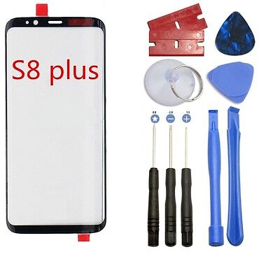 Black Outer Lens Screen Front Glass Replacement for Samsung Galaxy S8 PLUS G955