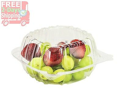 Dart Container 50 Piece, Clear Hinged Plastic Food Take Out To-Go/Clamshell Cont