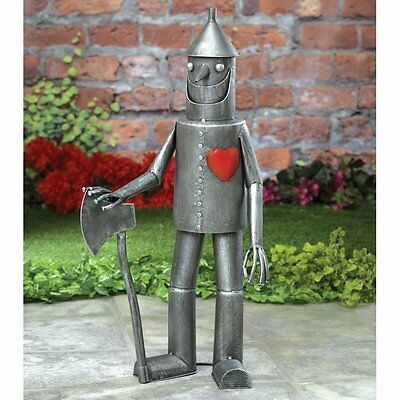 Tin Man Yard Art Wizard of Oz Out Door Metal Garden Sculpture Patio Statue Decor