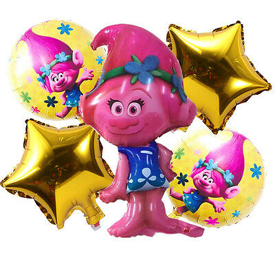 Trolls Supershape / Bundle Poppy Foil Balloons /Birthday Flag Party Decorations