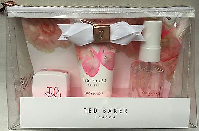 Ted Baker Handbag Essentials - Lip Balm, Body Lotion & Body Spray, Gift Set Bag.