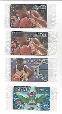 Nick Anderson Orlando Magic's Sprint Phone Card Lot of (4) Sealed Cards Total