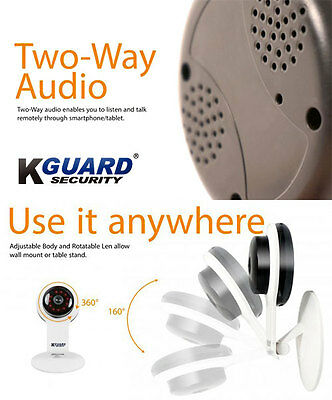 Kguard Ip Camera Stand Alone 720P Tilt Moving And Talk And Speech White