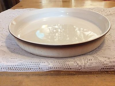 """Corning Ware Brown Fade French Bisque 10"""" Quiche Pan / Pie Plate F-3-B"""