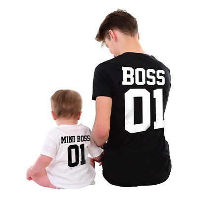 Boss Mini Boss Matching Tshirts Mother Daughter Father Son Parent Child Gift Fun