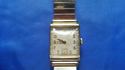 Vintage Hamilton 19 jewels  14K Gold Fielled Case and 10K GF Band Men's Watch