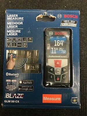 *BOSCH Blaze GLM 50 CX Laser Measure Bluetooth Smart BRAND NEW FREE SHIPPING*