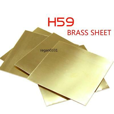 New Brass Metal Thin Sheet Foil Plate Shim Thick 1mm 100X100mm 1pcs