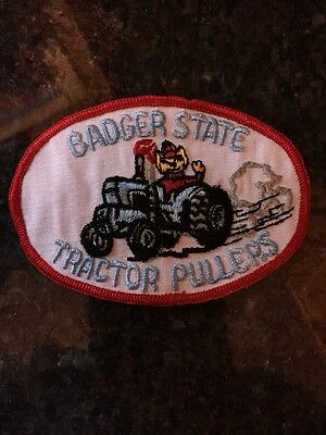 Vintage Badger State Tractor Pullers Club Embroidered Patch - Wisconsin