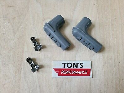 Set of 2 MSD Ignition 3311 Spark Plug Wire Boots Terminals 90 Degree Right Angle