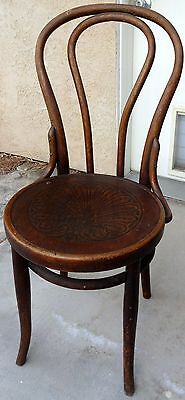 RARE Antique Bentwood Ice Cream Parlor Chair with steam pressed seat