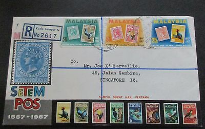 Malaysia ..1967  Cover....registered..with Information Booklet