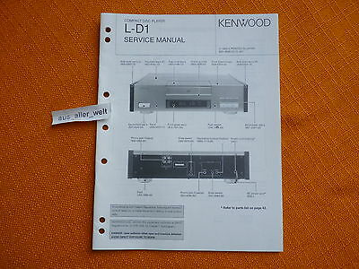 service manual kenwood l d1 english anleitung schaltplan. Black Bedroom Furniture Sets. Home Design Ideas