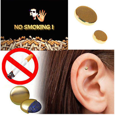 5 x Cigarettes Magnetic Stop Smoke Ear Acupressure Ear Magnet Quit Anti-Smoking