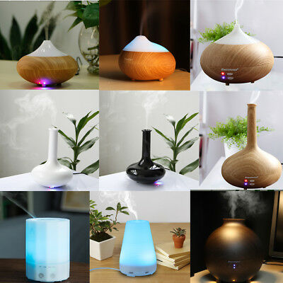 100-500ML Oil Ultrasonic Humidifier Aroma LED Aromatherapy Air Diffuser Purifier