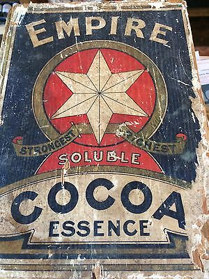 Empire Soluble Cocoa Essence Shop Advertising Display