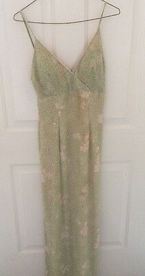 Papell Boutique Evening Women's Beaded Dress Pageant Wedding FREE SHIPPING SZ-4