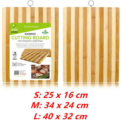 Premium Professional Carbonised Kitchen Bamboo Cutting Chopping Board With Hook
