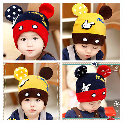 Cute Toddler Baby Infant Warm Beanie Knit Hat Kids Boys Girls Newborn Cap