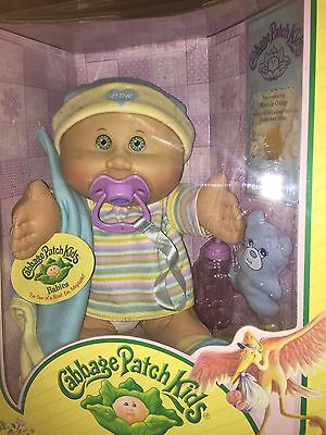 MIB Cabbage Patch Doll Babies 2005 Play Along PA-18 Bald Baby Boy Green Eyes