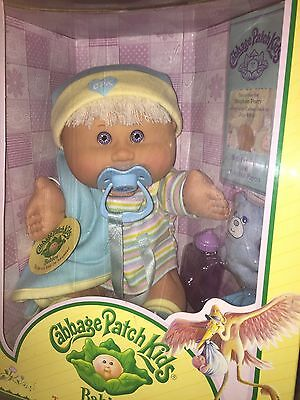 MIB Cabbage Patch Doll Babies 2005 Play Along PA-18 White Hair Boy Violet Eyes